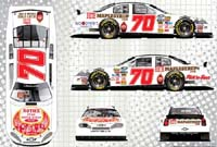 Plans for the #70 Roth's sponsored Nationwide car for Road America.